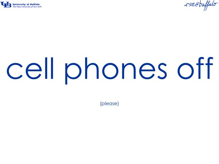 cell phones off