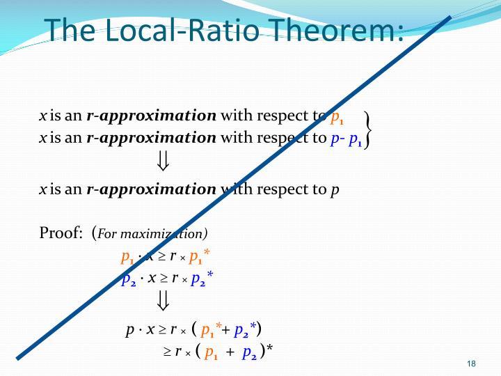The Local-Ratio Theorem: