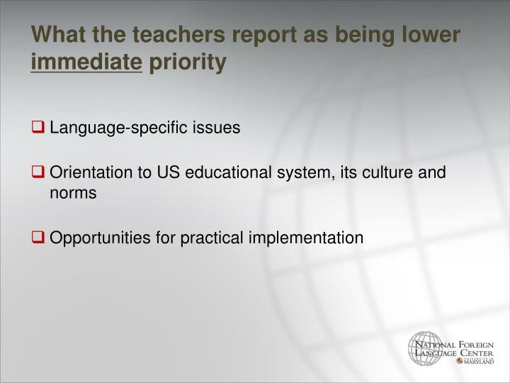 What the teachers