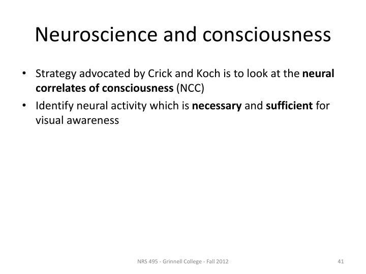 Neuroscience and consciousness