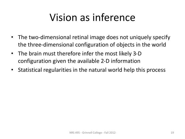 Vision as inference