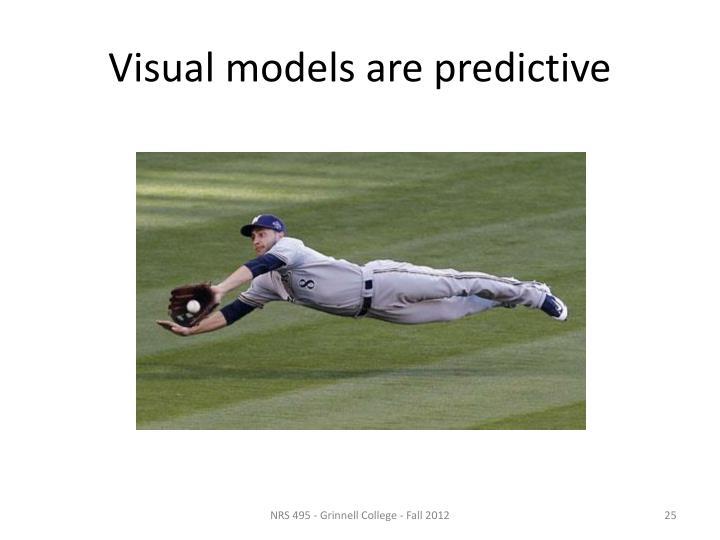 Visual models are predictive