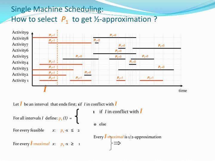 Single Machine Scheduling: