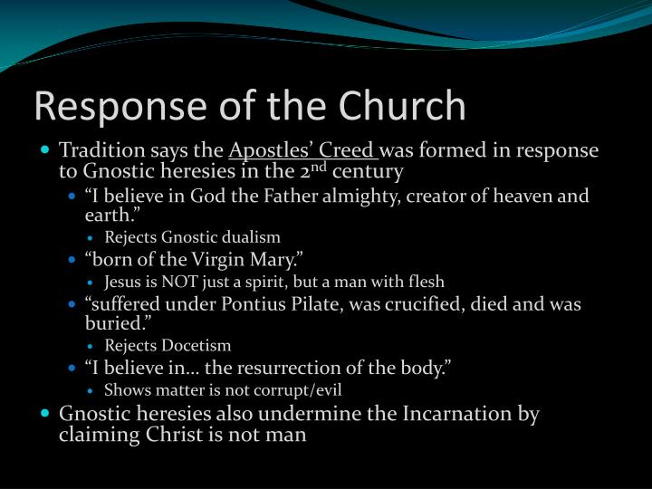Response of the Church