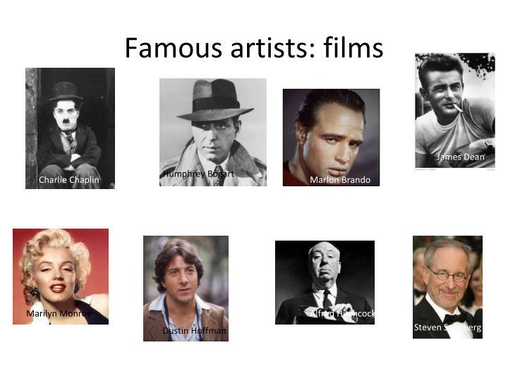 Famous artists: films
