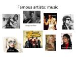 famous artists music
