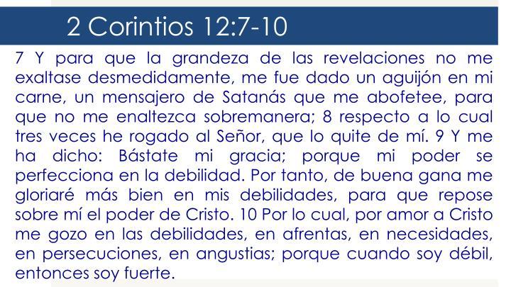 2 Corintios 12:7-10