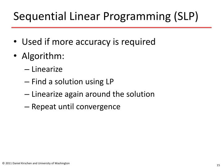 Sequential Linear Programming (SLP)