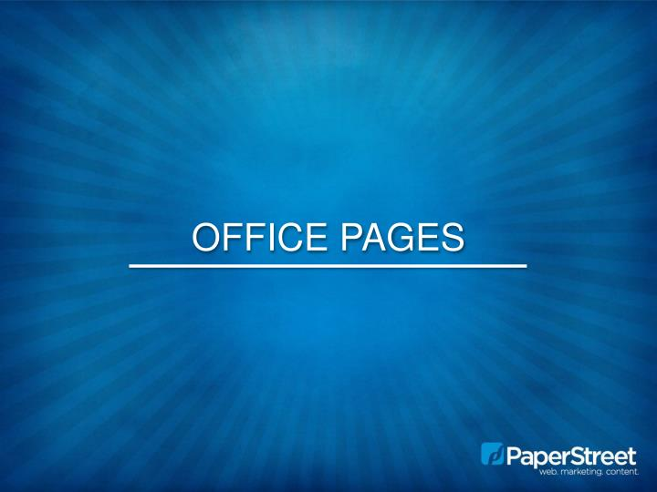 Office Pages