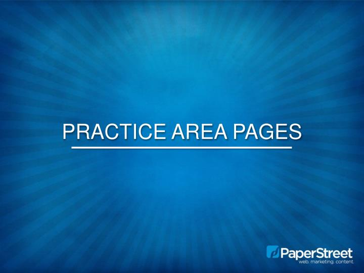Practice Area Pages