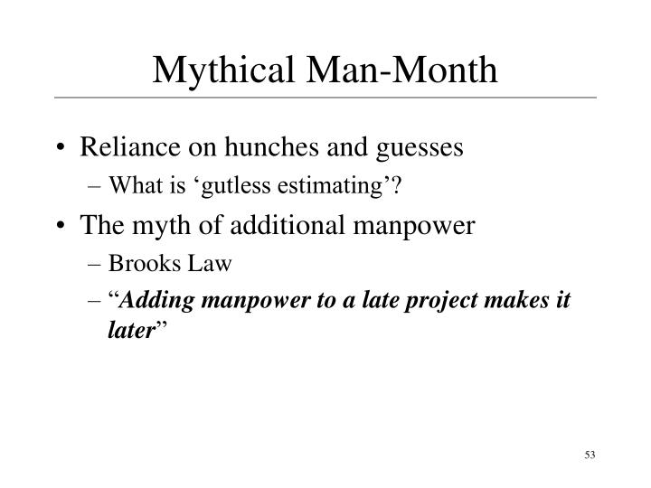 Mythical Man-Month