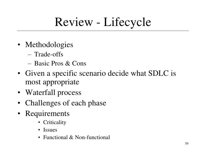 Review - Lifecycle