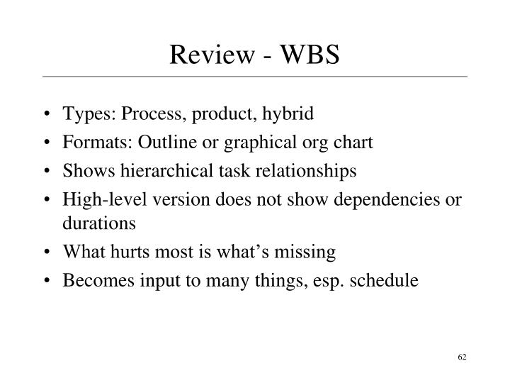 Review - WBS