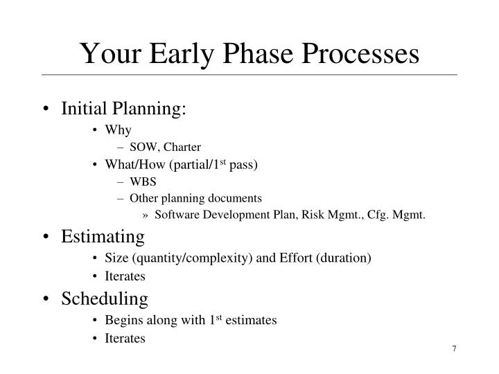 Your Early Phase Processes