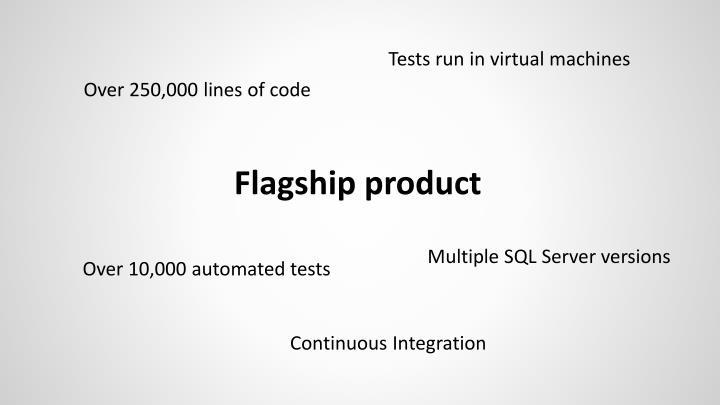 Tests run in virtual machines