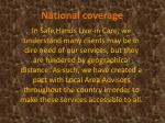 national coverage