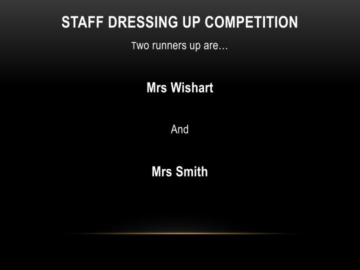 Staff dressing up competition