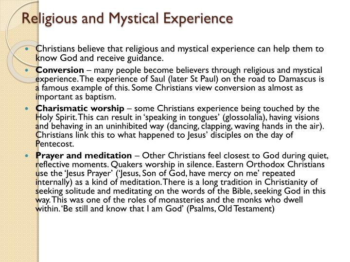 Religious and Mystical Experience