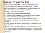 revelation through the bible