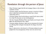 revelation through the person of jesus