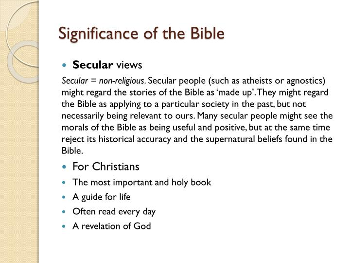 Significance of the Bible