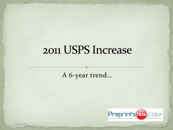 2011 USPS Increase