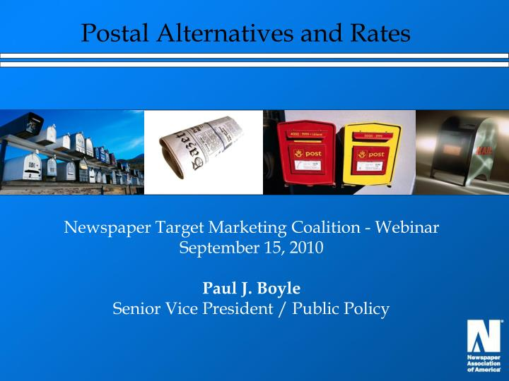 Postal Alternatives and Rates