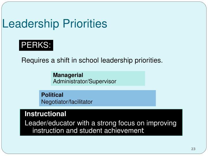 Leadership Priorities