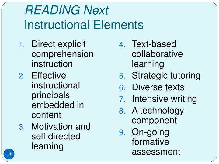 Direct explicit comprehension instruction