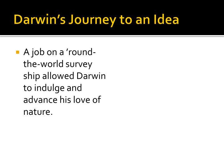 Darwin's Journey to an Idea