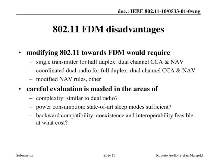 modifying 802.11 towards FDM would require