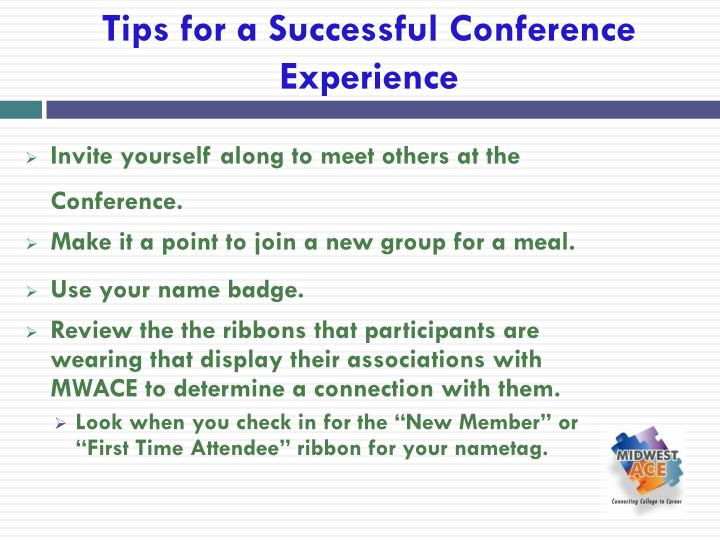 Tips for a Successful Conference Experience
