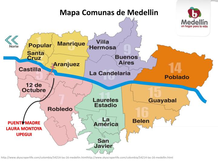 Mapa Comunas de Medellin