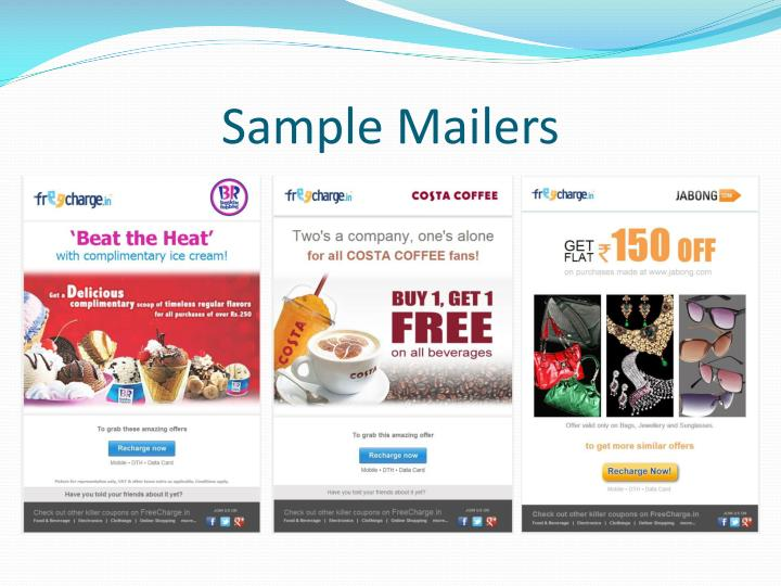 Sample Mailers
