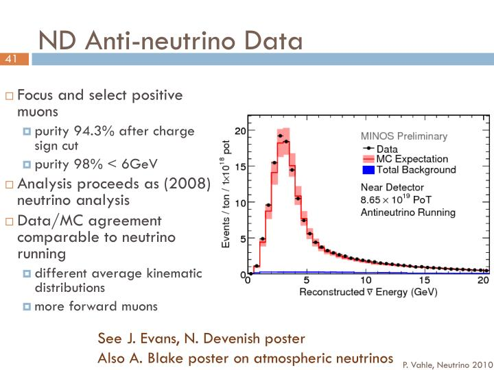 ND Anti-neutrino Data
