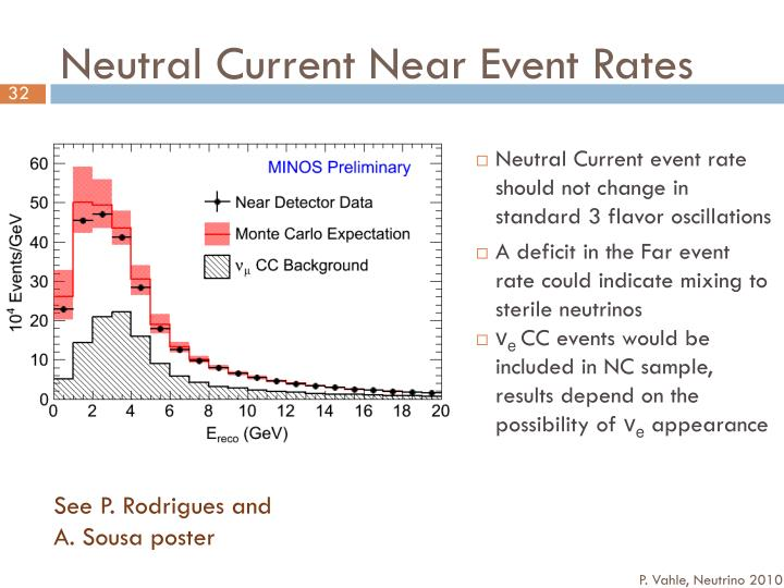 Neutral Current Near Event Rates