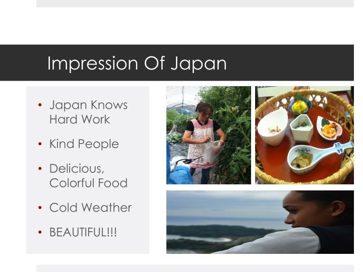 Impression Of Japan