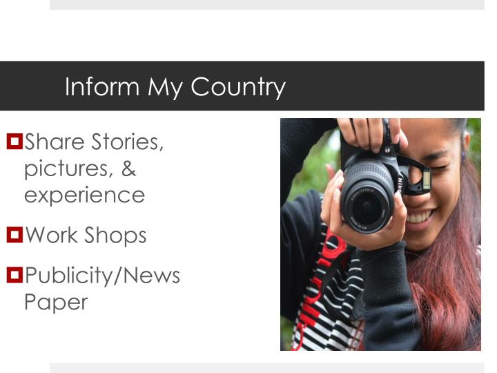 Share Stories, pictures, & experience