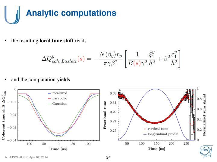 Analytic computations
