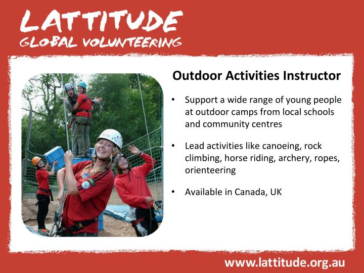 Outdoor Activities Instructor