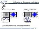 us tagging or transverse oscillations1