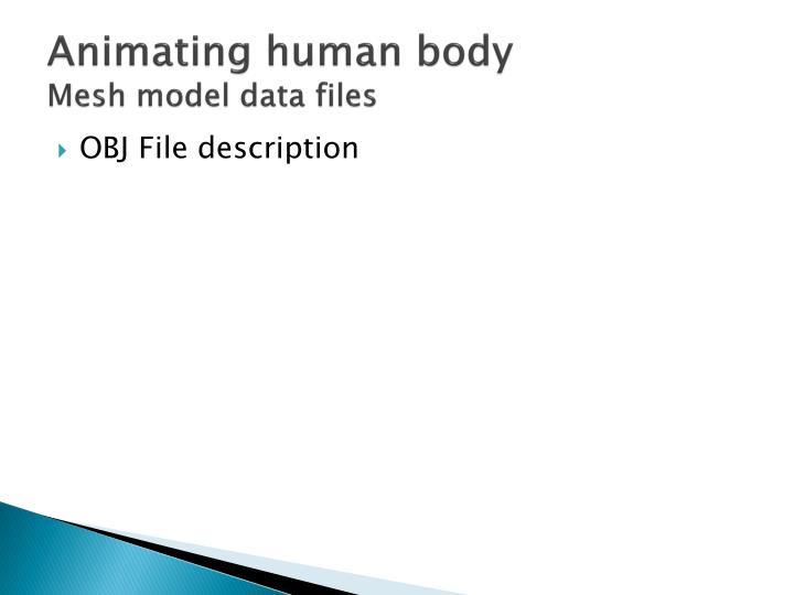 Animating human body
