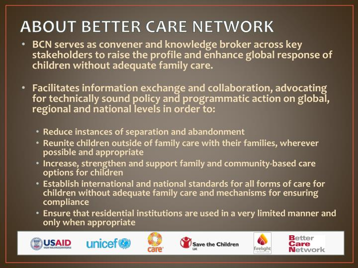 About better care network