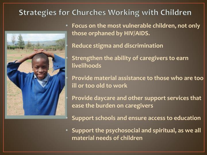 Strategies for Churches Working with Children