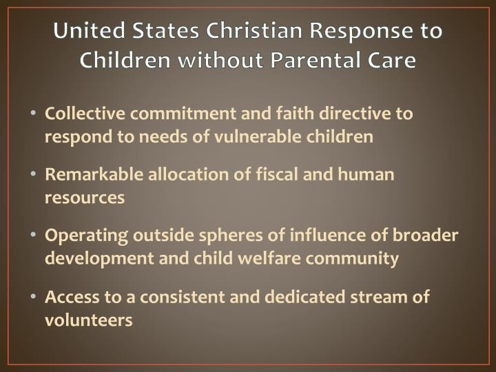 United States Christian Response to Children without