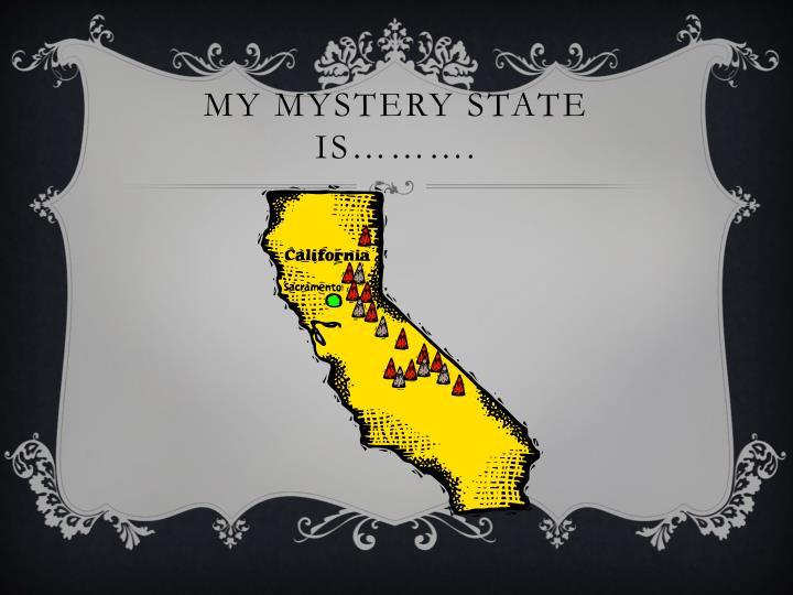 My Mystery State is……….