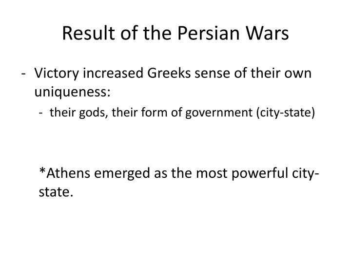Result of the Persian Wars