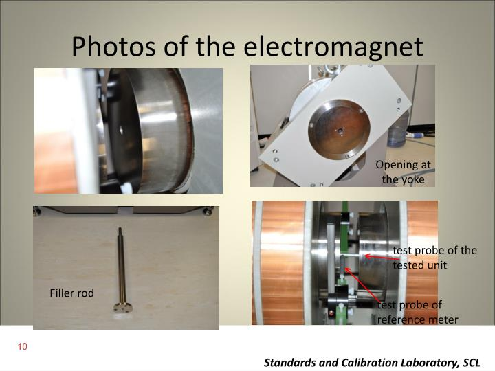 Photos of the electromagnet