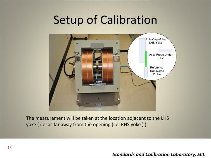 Setup of Calibration