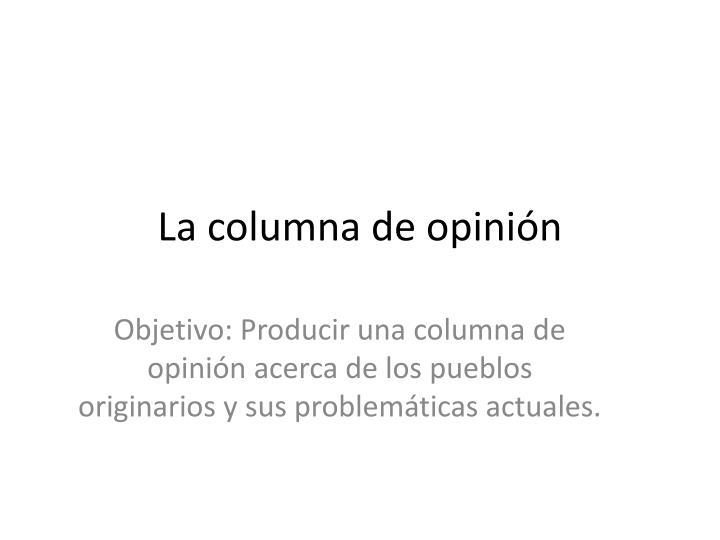 La columna de opinión